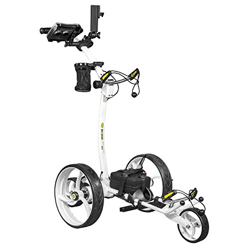 Bat-Caddy X8R Remote Control Golf Cart/Trolley - White - w/DELUXE Accessory Kit & Mountain Slayer Anti-Tip Bar from In The Hole Golf