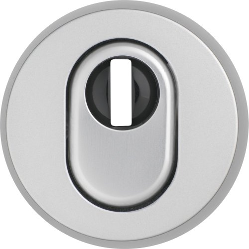 ABUS 304446 RHZS415 F1 SB Protective Escutcheon Plate with Cylinder Protection for Wooden Doors, Aluminium - Escutcheon Cylinder Plate