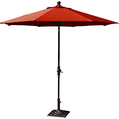 Darlee 9 Ft Aluminum Auto Tilt Patio Market Umbrella – Paprika For Sale