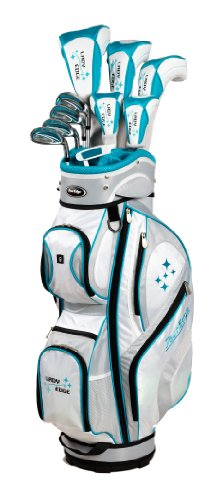 Tour Edge Women's 2014 Lady Edge Golf Full Set, Ladies Flex, Left Hand, Graphite, Teal