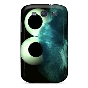 Premium KqN2766Stul Case With Scratch-resistant/ Cookie Monster Case Cover For Galaxy S3