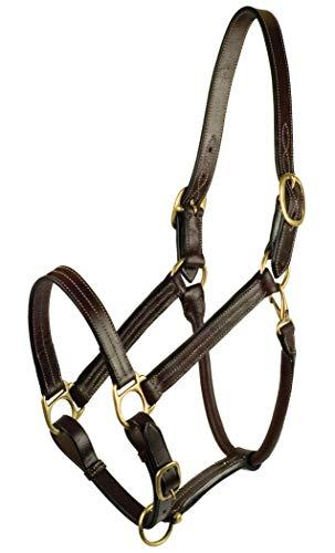 - GATSBY LEATHER COMPANY Classic Adjustable Halter Havanna Brown Horse