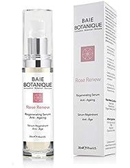 Award Winning Anti-Aging Rose Hyaluronic Acid Serum - 2 in 1 Serum & Toner - Rosewater, Rose Absolute, Rosehip Seed Oil, Glycolic Acid. 80% Organic. 98% Natural