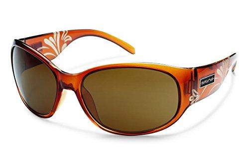 Suncloud Carousel Polarized Sunglasses, Cola Laser Frame, Brown - Suncloud Sunglasses Women's
