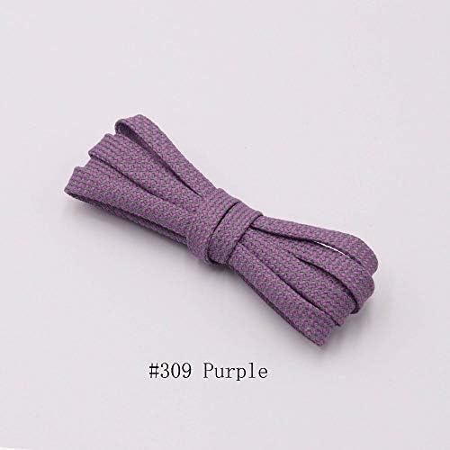 XJYWJ 靴紐のランナーは靴を実行するためのベルトスポーツの安全靴ひも靴ひもを織り (Color : 309 Purple 3M flat, Size : 120CM)