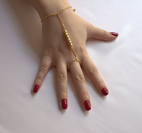 Amazon Balls Slave Bracelet Hand Chain Gold Finger Bracelet