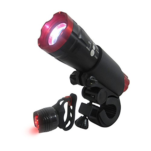 Stark Bike Lights LED Set – 350 Lumens! Brightest Waterproof Front and Back Lights – Sleek & Rugged – Mount W/out Tools – Road, Racing & Mountain Bikes – Batteries Included – Satisfaction Guranatee Review