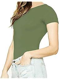 Body básico para dama con cuello redondo