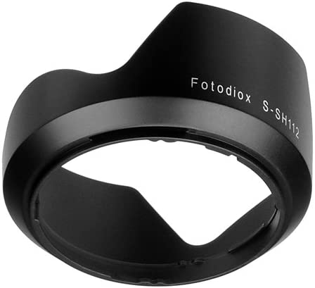 Replaces Sony ALC-SH112 Fotasy Bayonet Lens Hood for Sony E Mount SEL16F28 16mm f2.8 and SEL1855 18-55mm f//3.5-5.6 Zoom