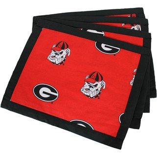 (Set of 12) - Georgia Bulldogs Placemats w/ border - Great for the Kitchen, or that Next Picnic or Tailgate Party! - Save Big By Bundling! -