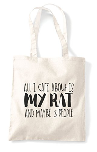 Care Cute Is Three Maybe Funny Bag And All I My Natural Tote People Shopper About Themed Rat Animal 1vFF5qwA