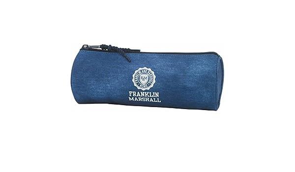 Franklin Marshall – Estuche redondo 8 x 23 x 8 cm azul Franklin Marshall: Amazon.es: Oficina y papelería