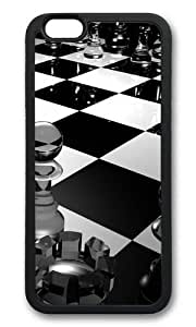 iPhone 6 Case,VUTTOO Stylish 3D Glass Chess Soft Case For Apple iPhone 6 (4.7 Inch) - TPU Black