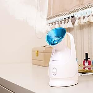 KINGDOMCARES Nano Ionic Warm Mist Facial Steamer Personal Sauna SPA Moisturizing Salon Skin Care Pores Cleanse Hot Mist Face Sprayer Clear Blackheads Acne Face Hydrate System Atomizer Humidifier Blue