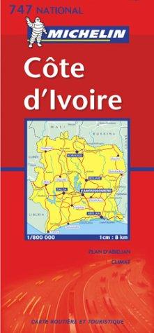 Michelin Ivory Coast Map