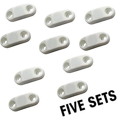 Hamilton Bowes #1 Strongest - RV & Trailer Magnetic Door/Baggage Door Catch Camper (White Plastic 5-Pair): Automotive