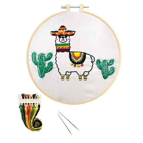 Louise Maelys Cross Stitch Kit for Beginner Full Range DIY Embroidery Starter Kit with Cute Animal Pattern Stamped