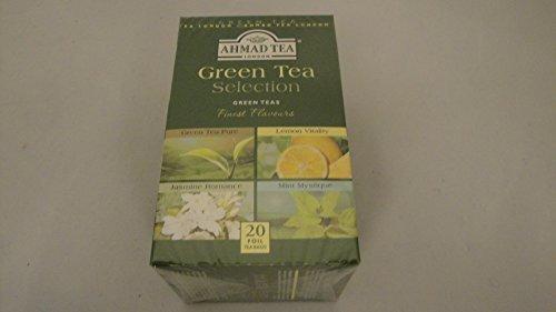 4 Sorten Grüner Tee als Beutel 20 Stück a 2 Gramm Grüner Tee Pur, Lemonen, Jasmin, Mint Green tea, green-te