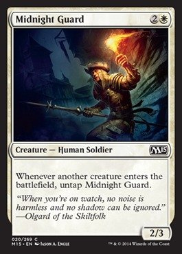 Magic: the Gathering - Midnight Guard (020/269) - Magic 2015 from Magic: the Gathering