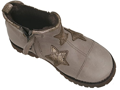clic! CL-9057 DE modische Stiefeletten kurzschaft Boots für Mädchen Grau (Antracita)