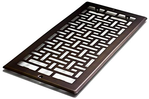 Decor Grates AJL614R-RB Oriental Return, 6-Inch by 14-Inch, Rubbed Bronze
