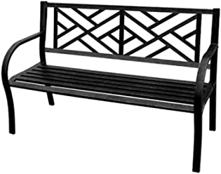 Jordan 3K-SMAZE Steel Park Bench with a Maze for The Back, 50-