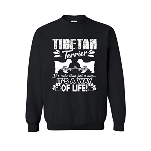(Two Camel Tibetan Terrier It's A Way of Life Sweatshirt, Unisex Long Sleeve Tshirt Black,3XL)