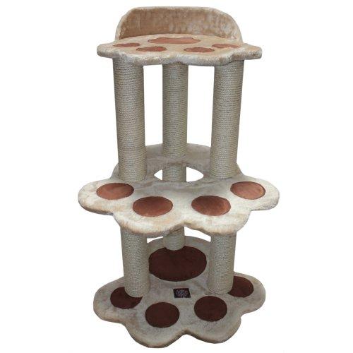 Majestic Pet Products 37.5 inch Beige Casita Cat Furniture Condo House Scratcher Multi Level Pet Activity Tree ()