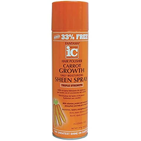Fantasia Hair Polisher Carrot Growth Sheen Spray, 14.0