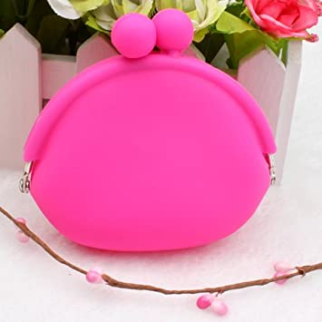 Amazon.com: Bonito bolso bolso carteras cosmética silicona ...