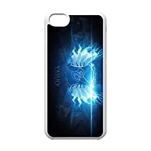 High Quality Specially Designed Skin cover Case games Yasuo Logo LOL iPhone 5c Cell Phone Case White