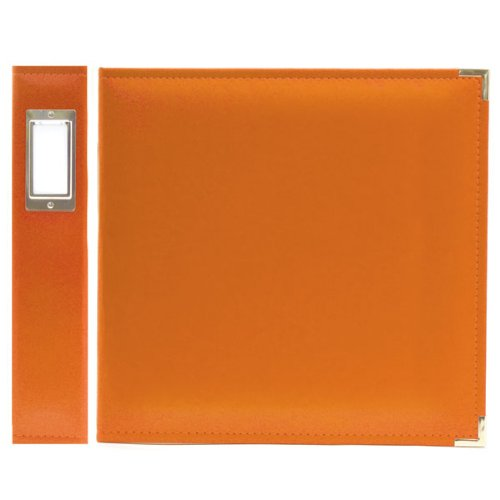 We R Memory Keepers 30651-1 Classic Leather 3-Ring Binder Album, 12'' X 12'', Orange Soda by We R Memory Keepers