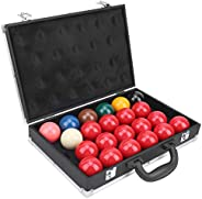 American Type 22 Balls Snooker Set with Box, Billiards Ball Container Storage Box & Pool Table Billiard
