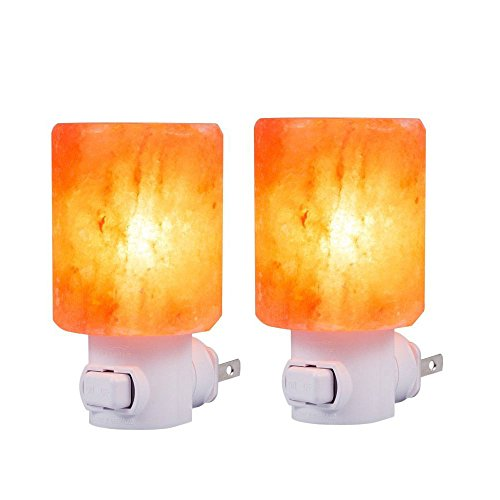 SMAGREHO 2 Pack Natural Himalayan Salt Lamp night light with UL-Approved Wall Plug