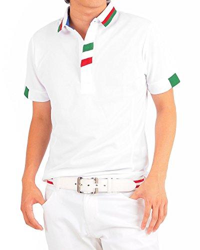 (イナセ) INASE ゴルフ ポロシャツ メンズ イタリアライン ショート衿 ポロ