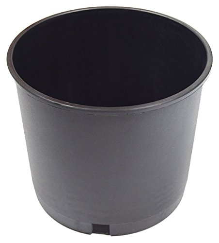 Plant Pot, Round, Nursery, 2/3/5 Gallon, Black Plastic. (5, 5 Gallon)