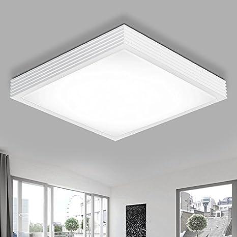 WoOnew Iluminación de techo de interior Cuadrado blanco ...