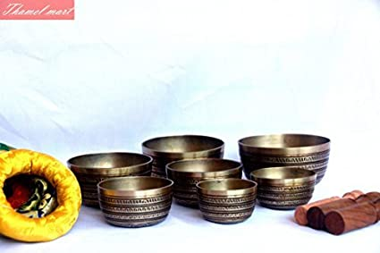 Amazoncom Chakra Healing Tibetan Singing Bowl Sets 7 Sets Of