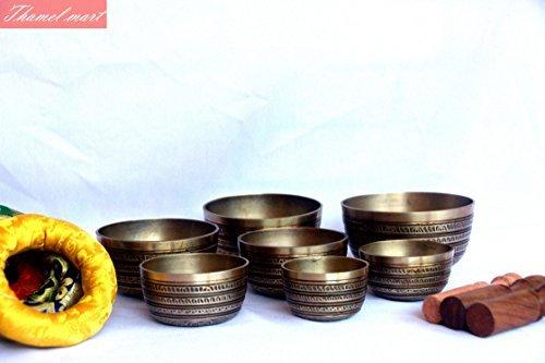 Chakra Healing Tibetan Singing Bowl Sets 7 Sets of Meditation Bowls From Nepal SINGING BOWL HOUSE P. Ltd. 4334202592