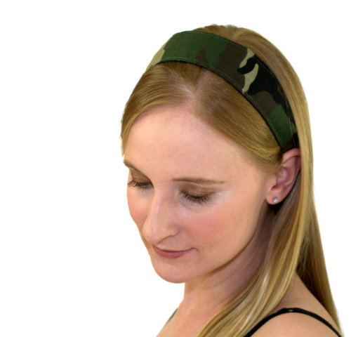 Skinny Headband Popular Camo Green and Earth Tones Camouflage Running Headwrap Headwrap Green Camo