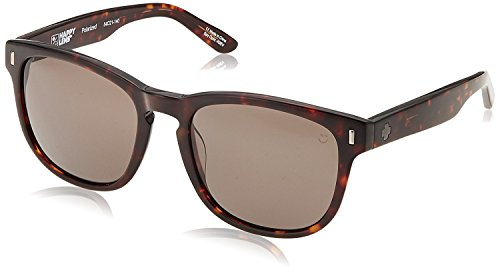 Spy Optic Unisex Beachwood Happy Lens Collection Polarized Sunglasses, Dark Tort/Bronze, One Size Fits - Logo Sunglasses R