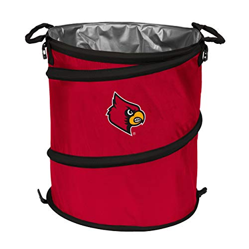 - NCAA Louisville Cardinals Adult Collapsible 3-in-1 Trash Can, Red