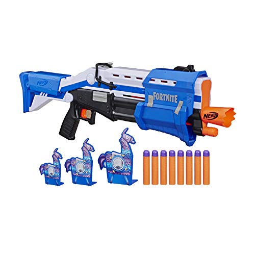 41H1Uv8NyeL - NERF Fortnite TS-R Blaster & Llama Targets -- Pump Action Blaster, 3 Llama Targets, 8 Official Mega Darts -- for Youth, Teens, Adults (Amazon Exclusive)