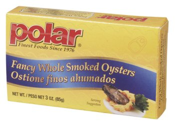 24 Pack Case of 3 oz. Smoked Oysters - (Polar Oysters)
