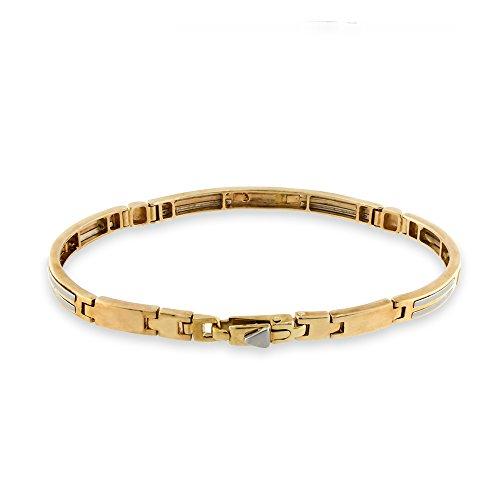 Gioiello Italiano Bracelet en or blanc et rose 14carats