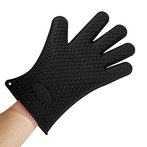 KAYI 1PC Heat Resistant Silicone Glove Full Finger Anti-Slip Ovens Holder Mittens Home Kitchen Cooking Glove