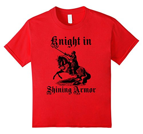 Price comparison product image Kids Knight In Shining Armor Medieval and Renaissance T Shirt 8 Red