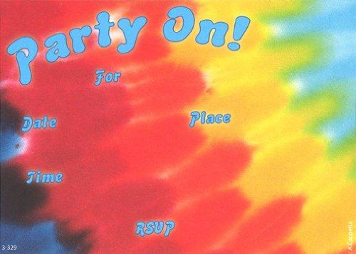 tye dye birthday invitations - 1