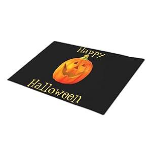 asyouw Halloween exterior puertas en blanco talla felpudo Funny