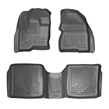 Husky Liners Custom Fit WeatherBeater Front and Second Seat Floor Liner Set for Select Ford Flex/Lincoln MKX Models (Grey)